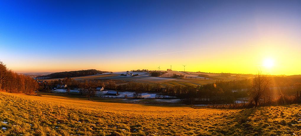 Sonnenuntergang in Bausenhagen
